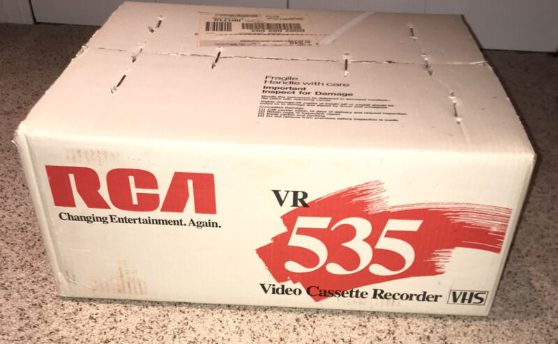 NEW SEALED RCA VR535 4 Head VCR VHS Player Video Cassette Recorder NOS!