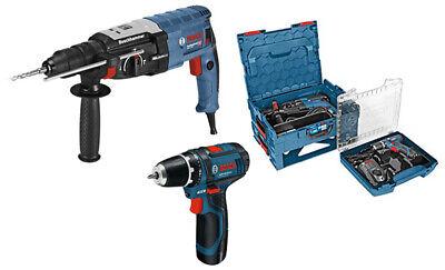 Bosch Professional Bohrhammer + Akku-Bohrschrauber Set Elektrobohrmaschine Schra ()
