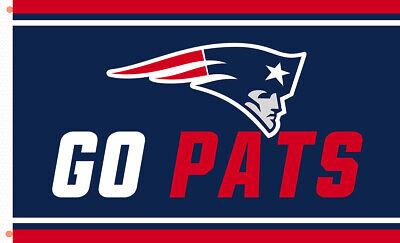 New England Patriots team flag GO PATS 90x150cm 3x5ft best banner