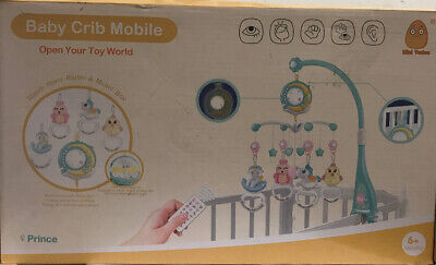 Mini Tudou Baby Musical Mobile Crib w/Music,Lights,Remote & Timing Function -New