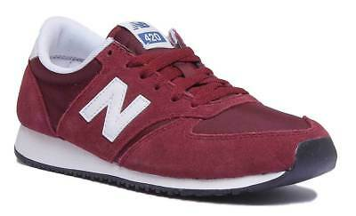 New Balance U420RDW Men Suede Dark Red Trainers Sizes 7.5-13
