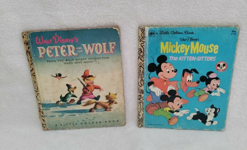 PETER AND THE WOLF/MICKEY MOUSE THE KITTEN-SITTERS A Little Golden Book1947/1976