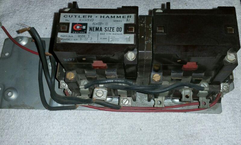 Cutler Hammer Motor Starter Size 00 Cat.# A50ANVO