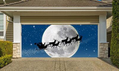 Christmas Garage Door Covers 3D Banners Outside House Decor Billboard G41 - Door Banners