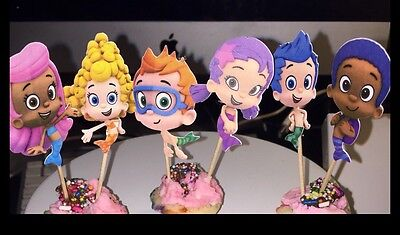12 Cupcake Toppers - Bubble Guppies  - Bubble Guppies Cupcakes