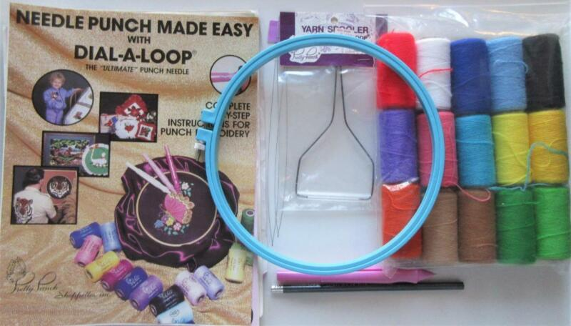 Pretty Punch Punch Needle Embroidery Starter Set Yarn, Needle, Patterns, Tools