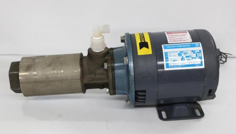 Gould Century Pump Motor 8-142002-20 w/ Tonkaflo Pumps SS505X-450-TFE Pump