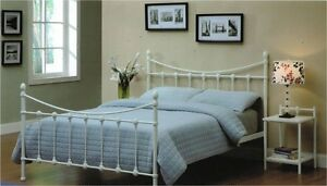 Avon Metal Iron Style Bed Frame in White. Clayfield Brisbane North East Preview