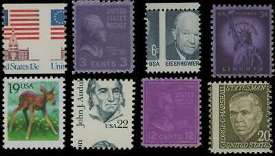 EFO Selection of 8 Error Stamps MNH