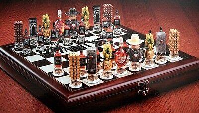 Jack Daniels Lynchburg Schach Set Neu Echte Rarität für Sammler und Fans