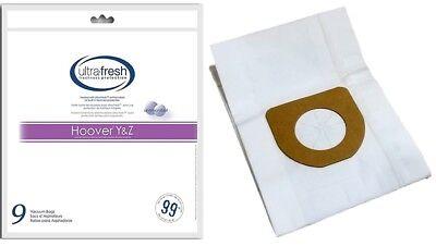 - Hoover Type Y Vacuum Bags Micro Filtration -- 9 Pk - Pet Odor Absorbing -