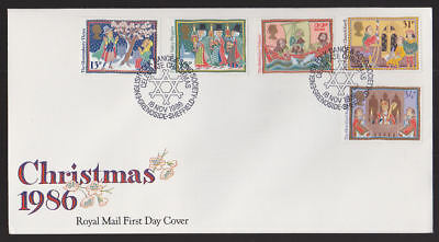 Great Britain 1986 FDC Royal Mail Cover Christmas Grenoside Sheffield Dance Song ()