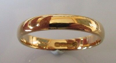 George VI 1941 22ct Rose Gold Wedding Band (3mm) Ring Size O.