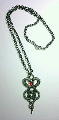 Silver Mystic Collection Celtic Serpent Pendant Sacred Talisman Adj Necklace