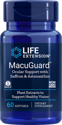 4 PACK $23 Life Extension MacuGuard Ocular Health Astaxanthi
