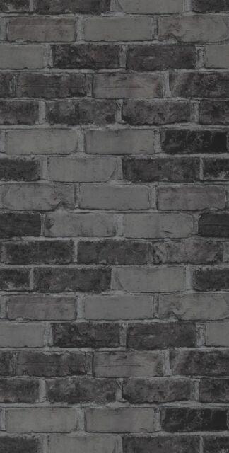 Vlies Tapete Bruchstein Stein Muster Mauer Ziegelstein Anthrazit  BN 49783