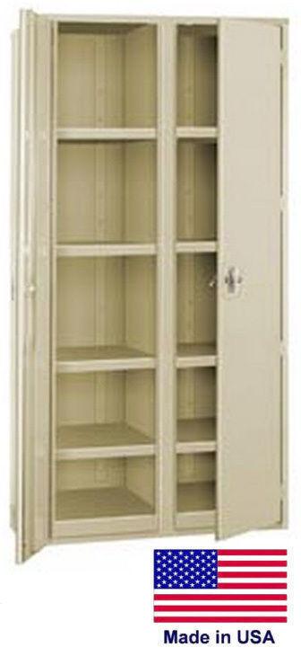 Storage Cabinet Commercial/indl - 12 Gauge Steel - 8 Shelf - Putty - 72x48x24  P
