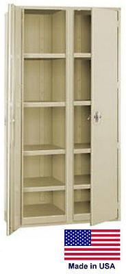 Storage Cabinet Commercialindl - 12 Gauge Steel - 8 Shelf - Putty - 72x36x24 P