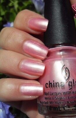 China Glaze EXCEPTIONALLY GIFTED Light Soft Pink Pearl Nail Polish Lacquer - Pink Polish