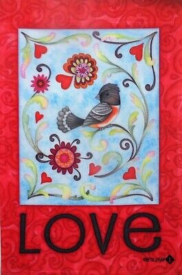 Love Birds Garden Flag (Love Bird Garden Flag by Toland #75  12.5