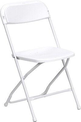 Lot Of 100 New White Lightweight Plastic Folding Chair