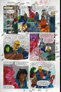 1991-Avengers-329-page-20-Marvel-color-guide-comic-art-Captain-America-She-Hulk