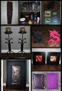 Cadres, Coussins, Chandeliers, Vases Pots Fleurs, Appuis Livres