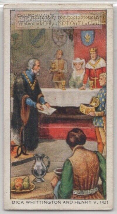Dick Whittington and King Henry V 1421  80+ Y/O Ad Trade Card