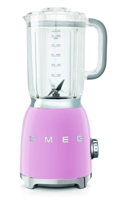 Smeg BLF01PKUK Pink Blender Smoothie Pulse 1800rpm 800w