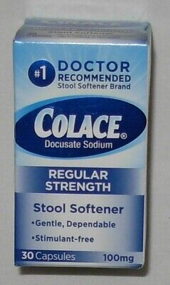 Colace Stool Softener 30 Capsules 100 mg Exp -
