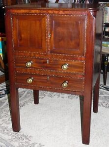 Georgian Period Antique Mahogany 2 Drawer Cabinet Kingston Kingston Area image 7