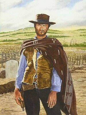 CLINT EASTWOOD THE GOOD, THE BAD, AND THE UGLY ART PRINT