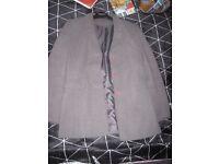 Grey suit style ladies jacket Anne Brooks size 8 petite
