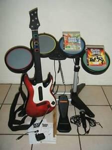 ★PlayStation 3 PS3 Guitar Hero Drums, Guitar, Mic & 2 Games♫ Logan Village Logan Area Preview
