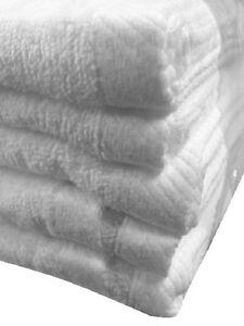 4 JUMBO WHITE VELOUR HOTEL BATH SHEETS TOWELS 30x60 SOFT VELOUR 11# PER DZ