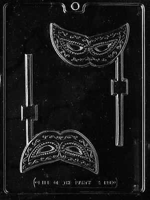 MASK LOLLY POP mold Chocolate Candy birthday party favors Ma