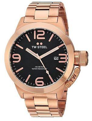 Tw Steel Mens Cb172 Canteen 50 Mm Rose Gold Tone Bracelet Watch