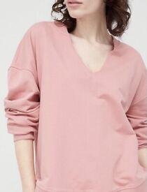 **NEW**Oversized sweatshirt Notch collar , sizes:10, 14, 16