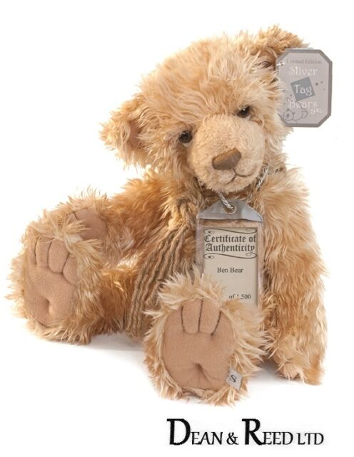 """Silver Tag Collectable Limited Edition Bears by Suki - Ben Bear - 18.5"""""""
