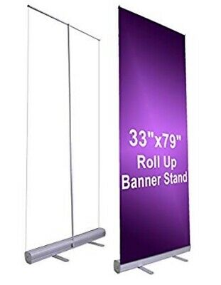 33x79 Retractable Roll Up Banner Stand Only