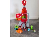 ELC Happyland space rocket with lights sounds and figures
