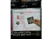 Engraving window cards