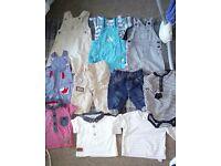 Bundle of boys 0-3 months clothes