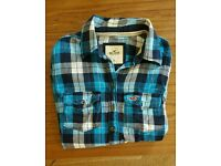 Hollister xs blue checked shirt