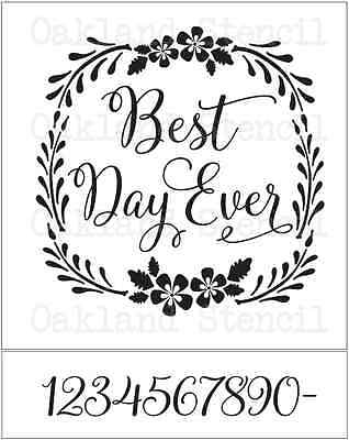 Wedding STENCIL*Best Day Ever*3 Sizes to choose*for Signs Wood Gifts (Best Wedding Gifts Ever)