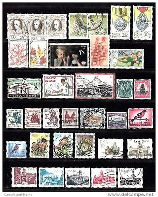VA39A SOUTH AFRICA - COLLECTION OF 35 DIFFERENT - USED - NICE LOT