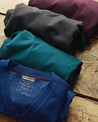 Calamar Men's V-Neck Sweater - Aubergine - Large Jumper - Box64 69 A