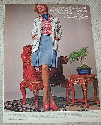 1974 vintage ad - Country Set fashions SUSAN BLAKELY print ADVERTISING Page