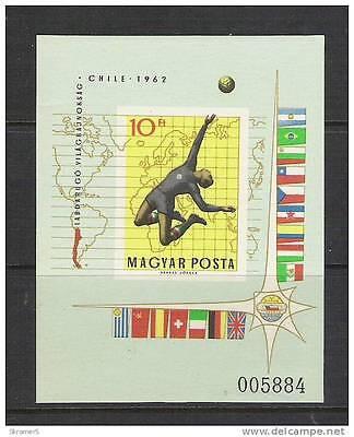 1962 Hungary #1453 Imperf Souvenir Sheet-MNH **-Soccer-World Cup (5884)