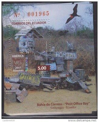 Ro 2011 Ecuador  America Upaep  Mailbox  Post Office Bay  Galapagos Post Office